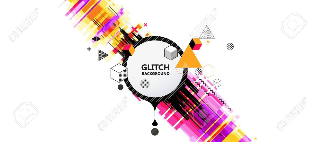 Memphis Geometric colorful background Template for covers, flyers, banners, posters and PLACARDS, EPS10 vector illustration - 76731084