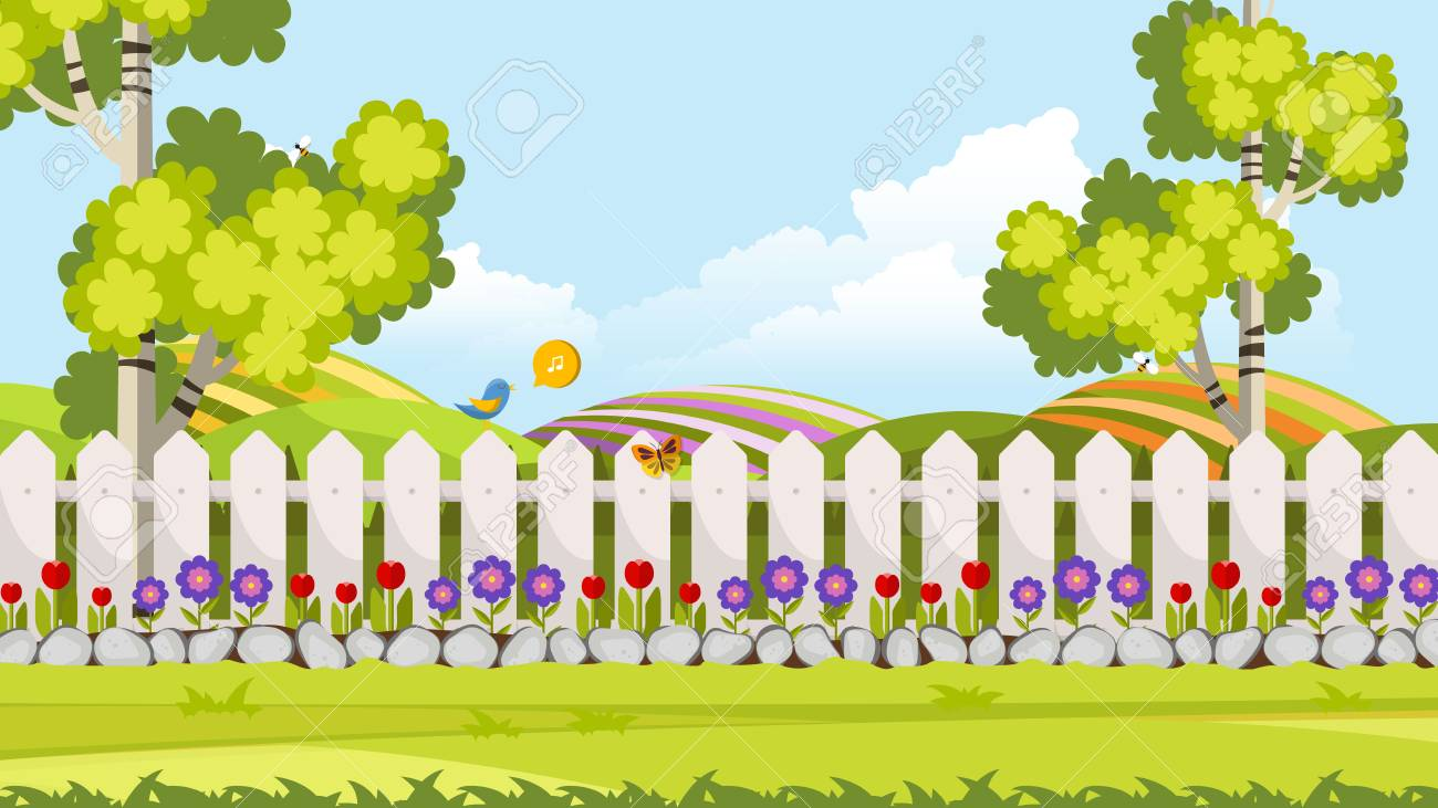 beautiful flower bed vector illustration flowering garden in royalty free cliparts vectors and stock illustration image 96384370 beautiful flower bed vector illustration flowering garden in