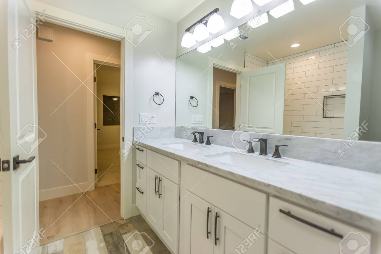 Model Homes Always Show Off Beautiful Bathrooms With Clever Design Stock Photo Picture And Royalty Free Image Image 81178395