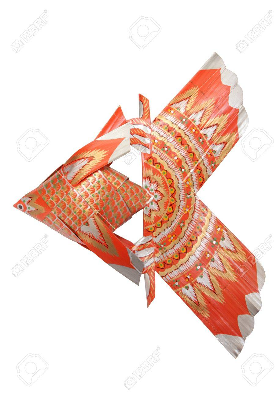 Fish-shaped ornaments made of palm leaf Stock Photo - 10248310