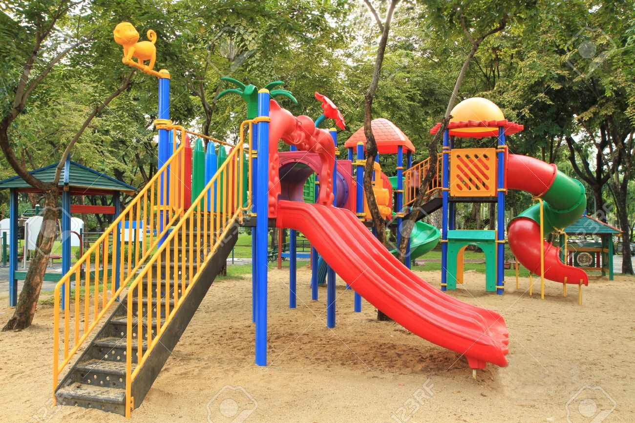 children park images  Colorful Children Playground In The Park Stock Photo, Picture And ...