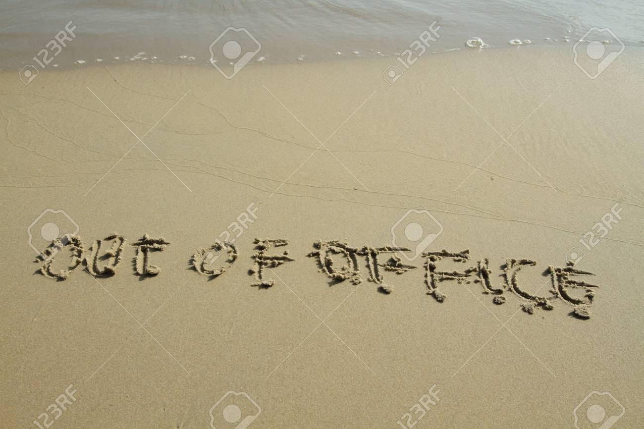 Handwritten in sand on a beach Stock Photo - 11120183