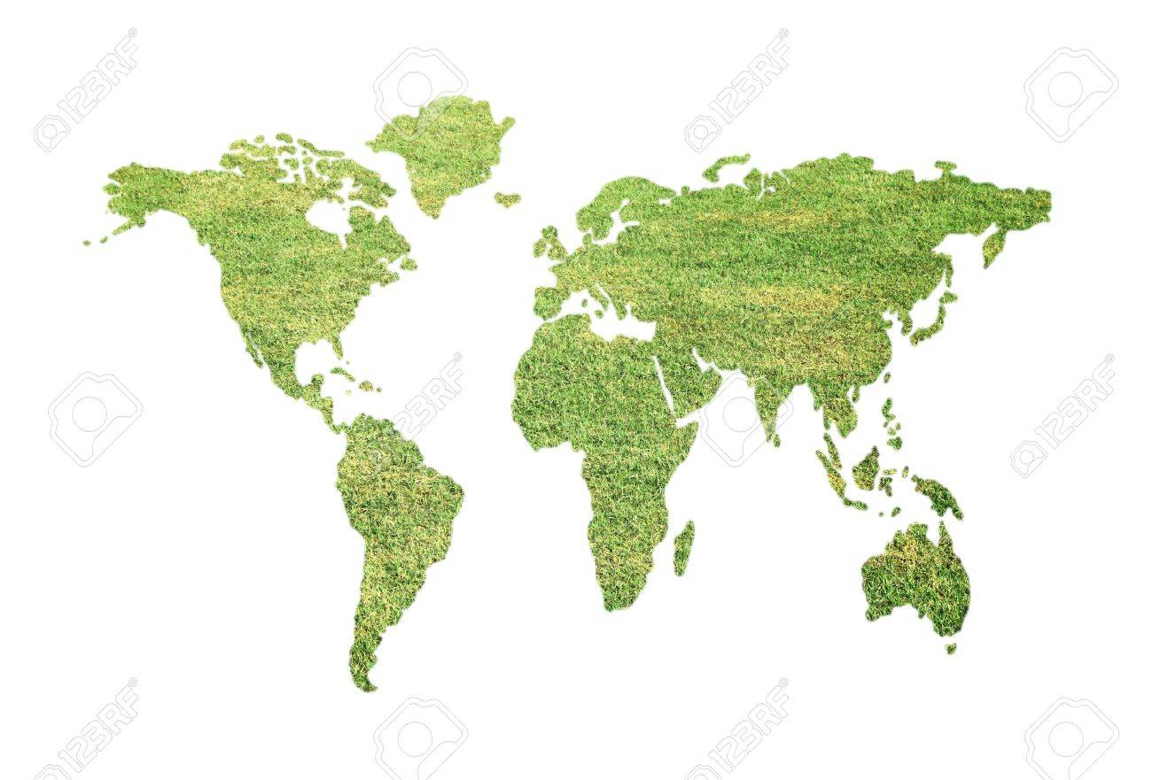 Green global map Stock Photo - 15008816