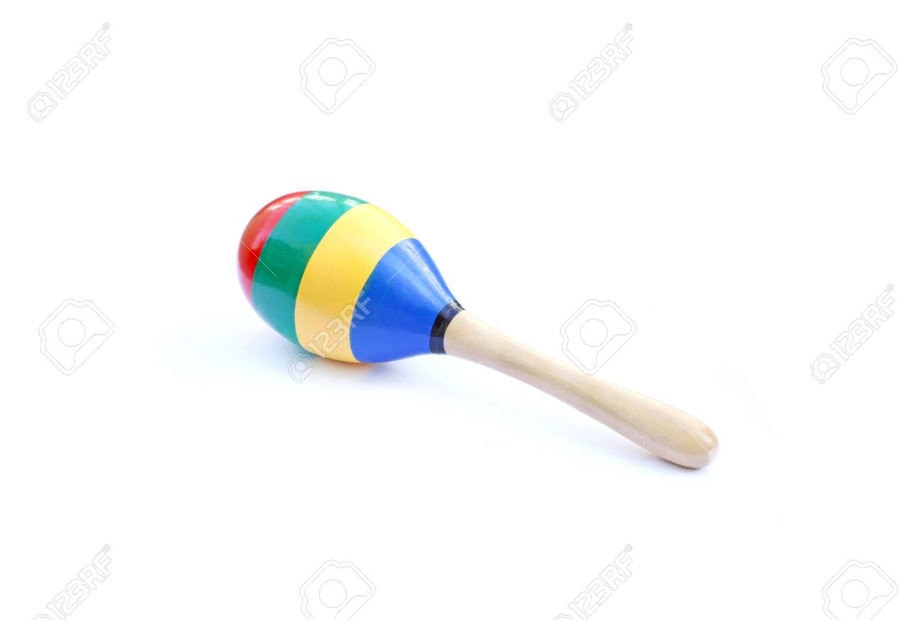 colorful maracas isolated on white background stock photo picture