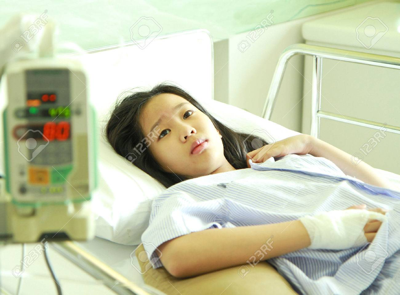 Merveilleux Stock Photo   Woman Patient In Hospital Bed