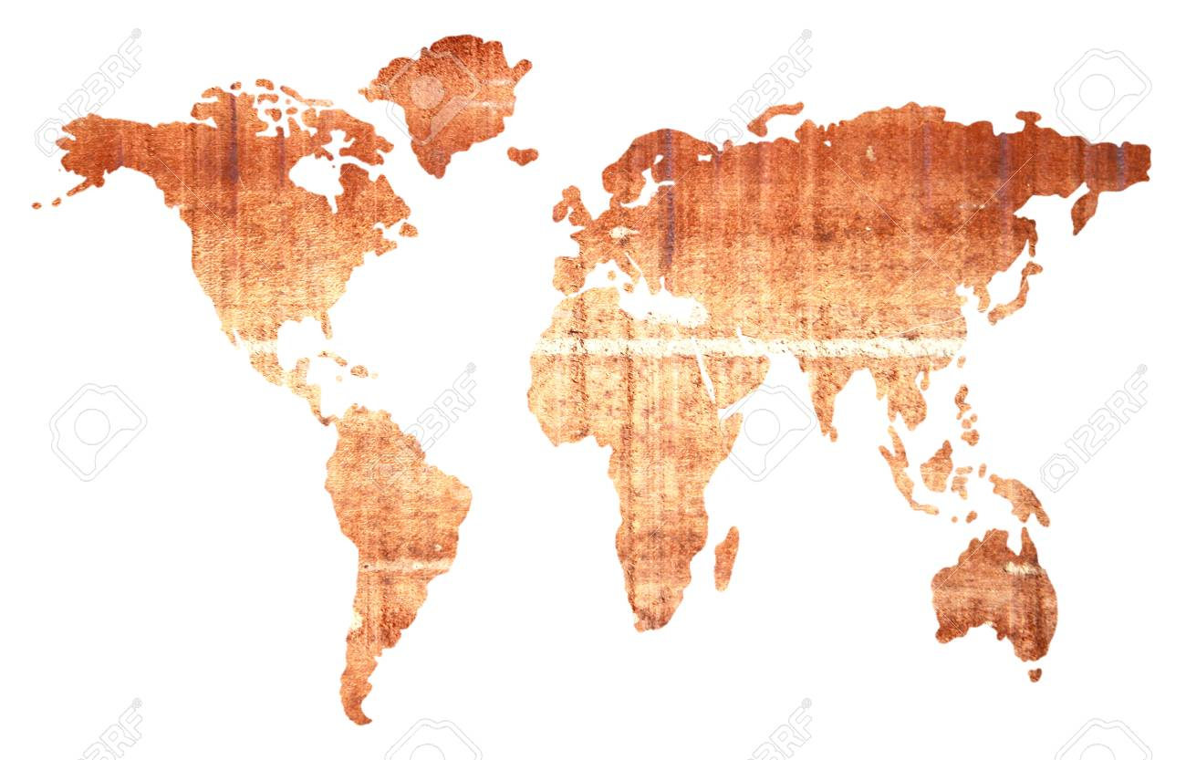 Global Map Images.Global Map Isolated On White Background Stock Photo Picture And