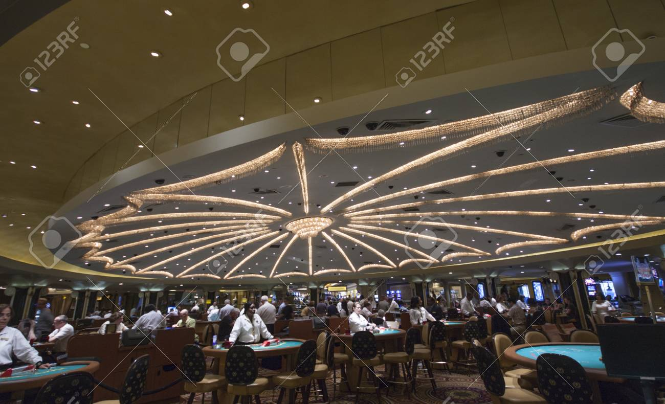 LAS VEGAS, NEVADA - APRIL 12, 2011: Caesars Palace hotel gambling hall on April 12, 2011 in Las Vegas, Nevada. Caesars Palace is a luxury hotel and casino containing 3.348 rooms Stock Photo - 17393159