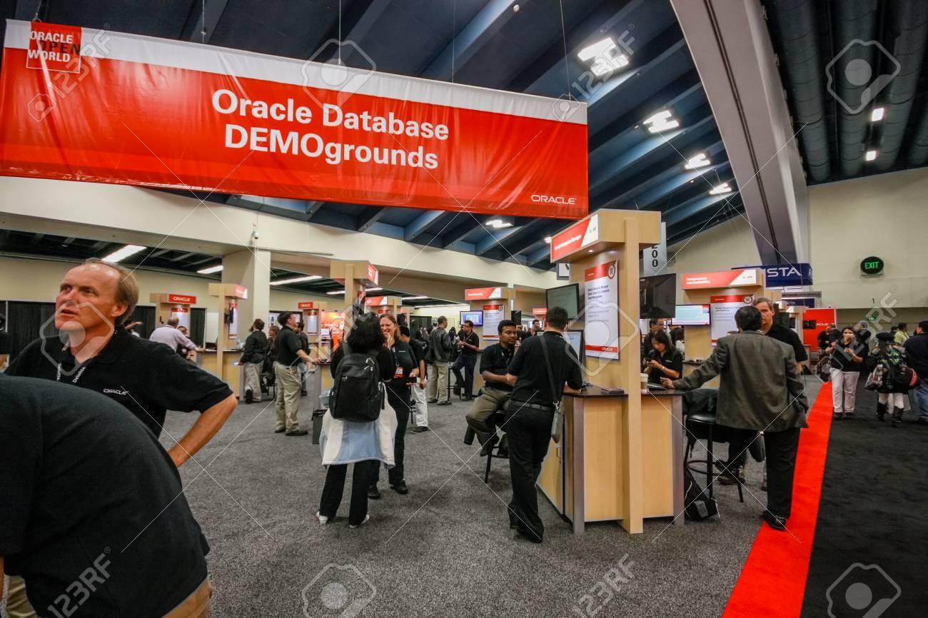 SAN FRANCISCO, CA, USA - OCT 4, 2011: Oracle database demoground