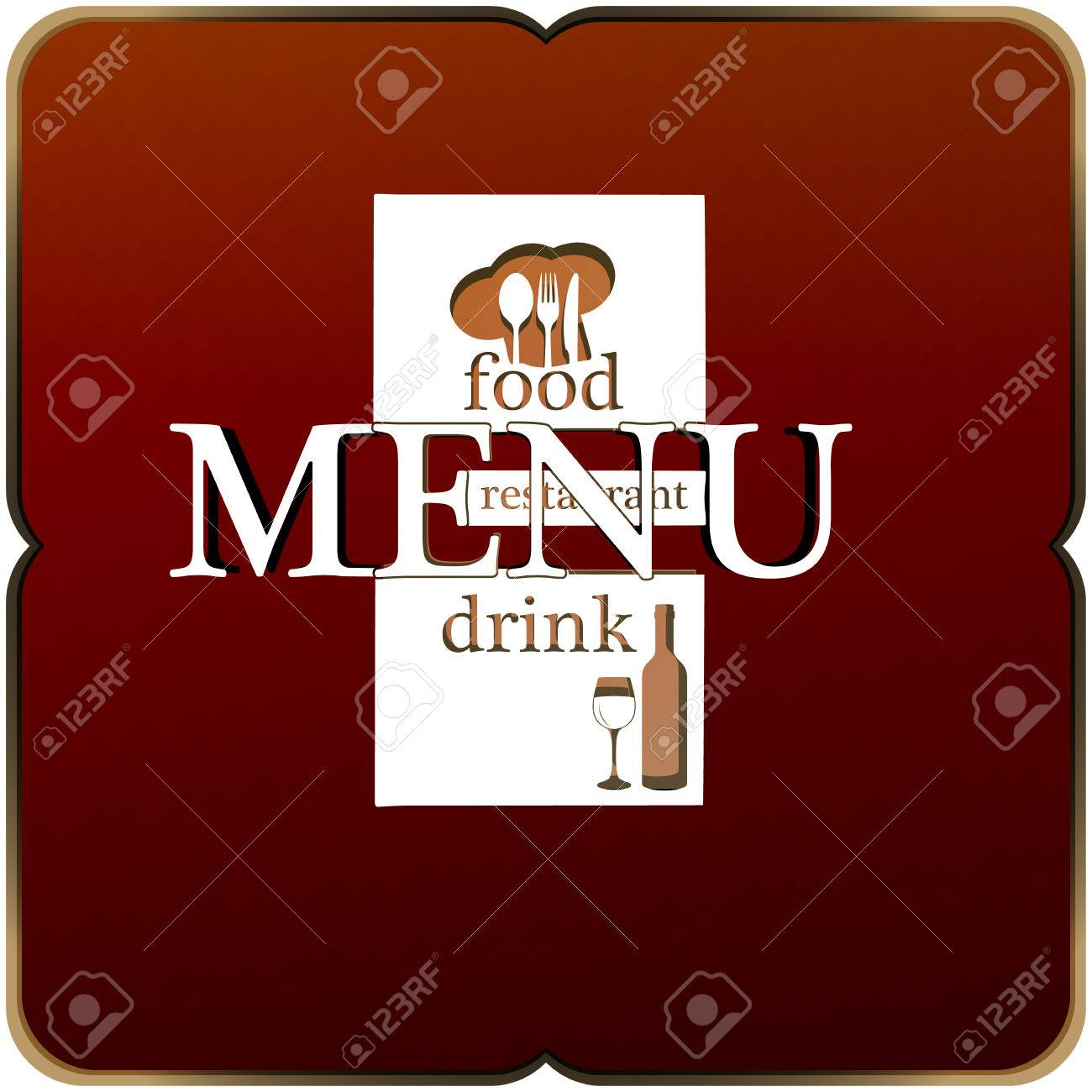 vector template restaurant menu, title page, title, cover. the