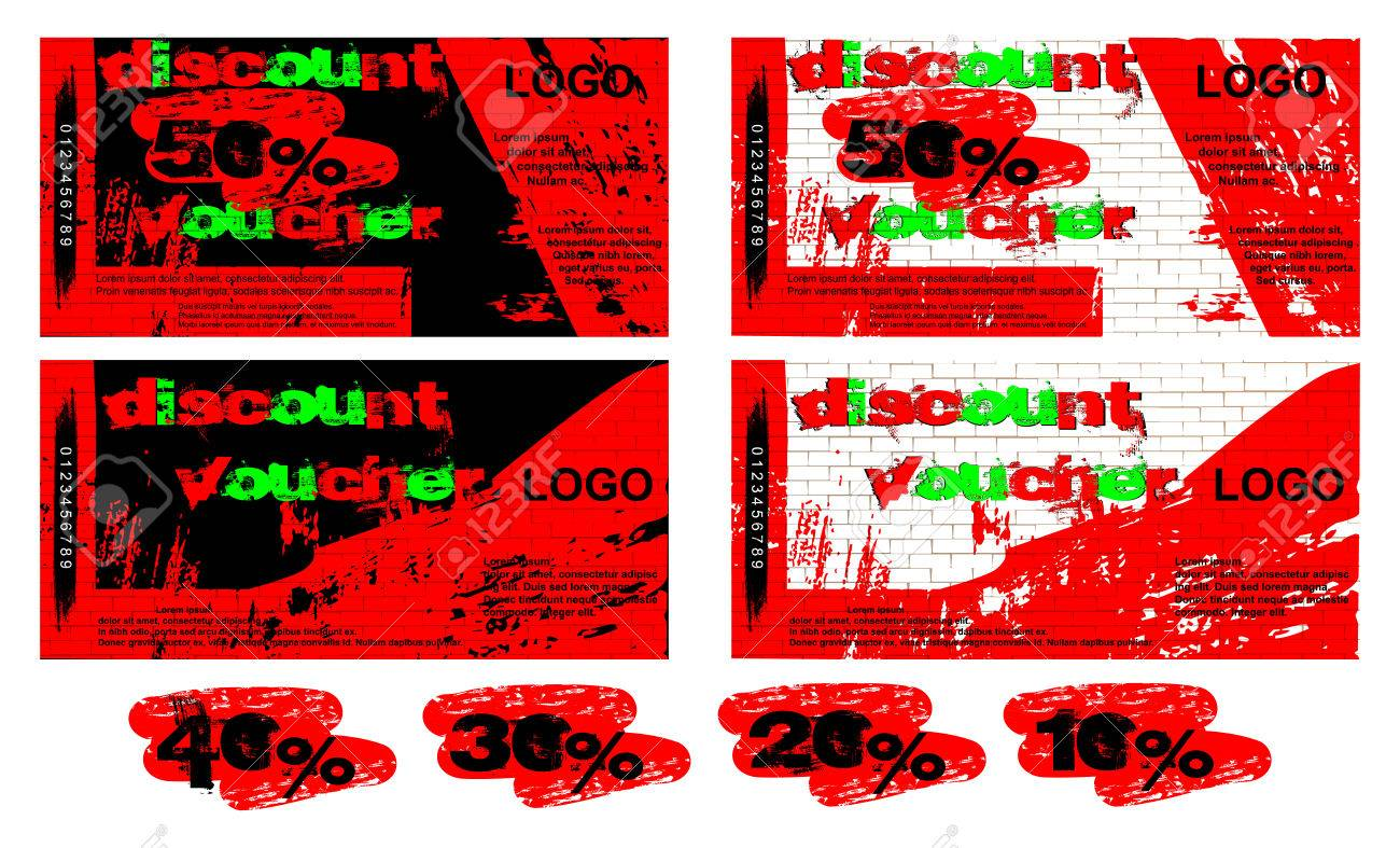 Vector template gift voucher black and white background of graffiti vector vector template gift voucher black and white background of graffiti on a brick wall the front and reverse side added examples of figures 50 maxwellsz