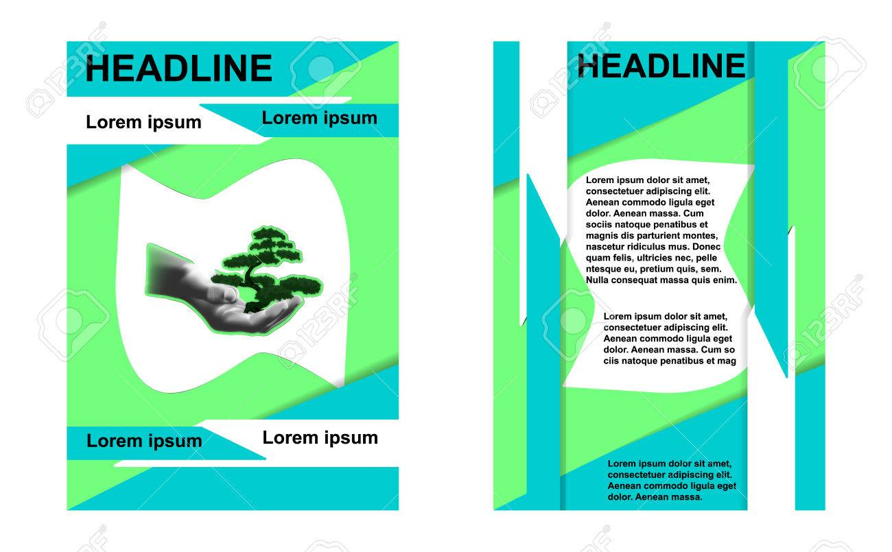 illustration of a template sample brochures ecology place for