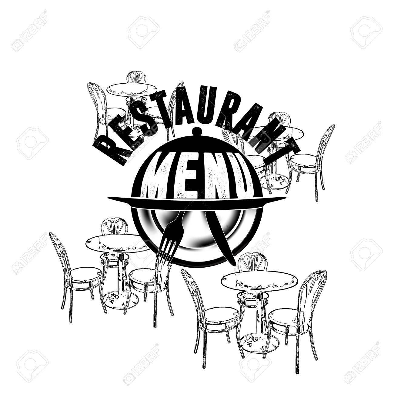 Vector Illustration Cover-Vorlage Restaurant-Menü Mit Platte Und ...