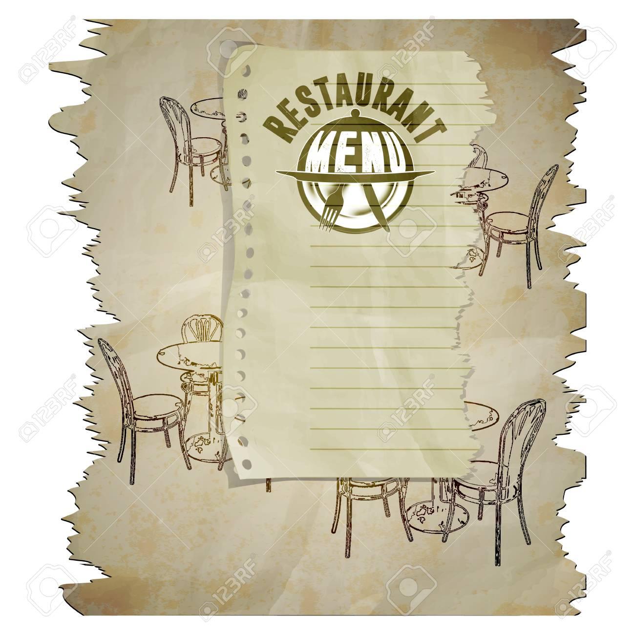 Vorlage Restaurant Menü-Seite Mit Dem Text Das Isolierte Bild Auf ...