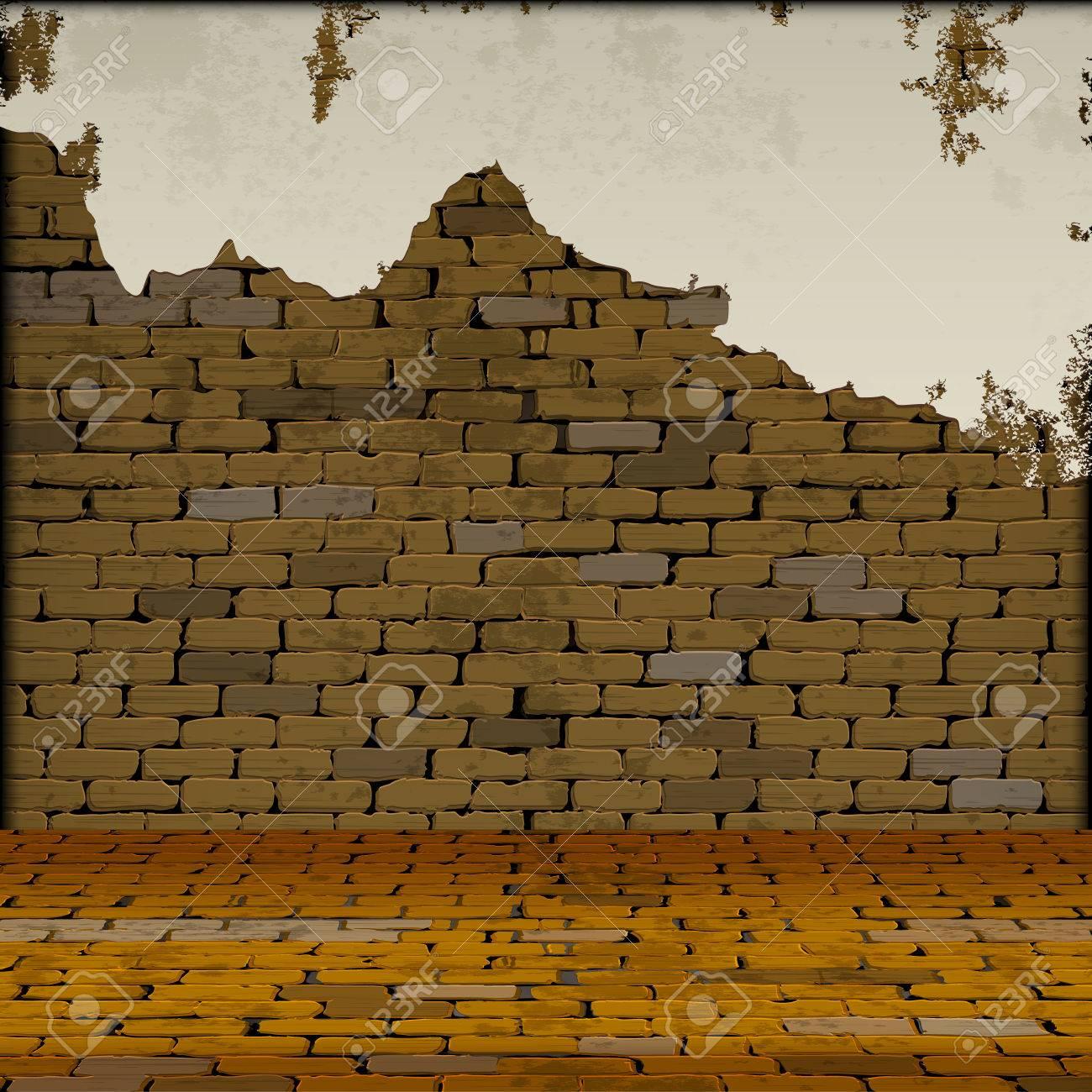 Freie Hintergrund Mauer Mit Dem Boden In Die Zukunft. Sie Können ...