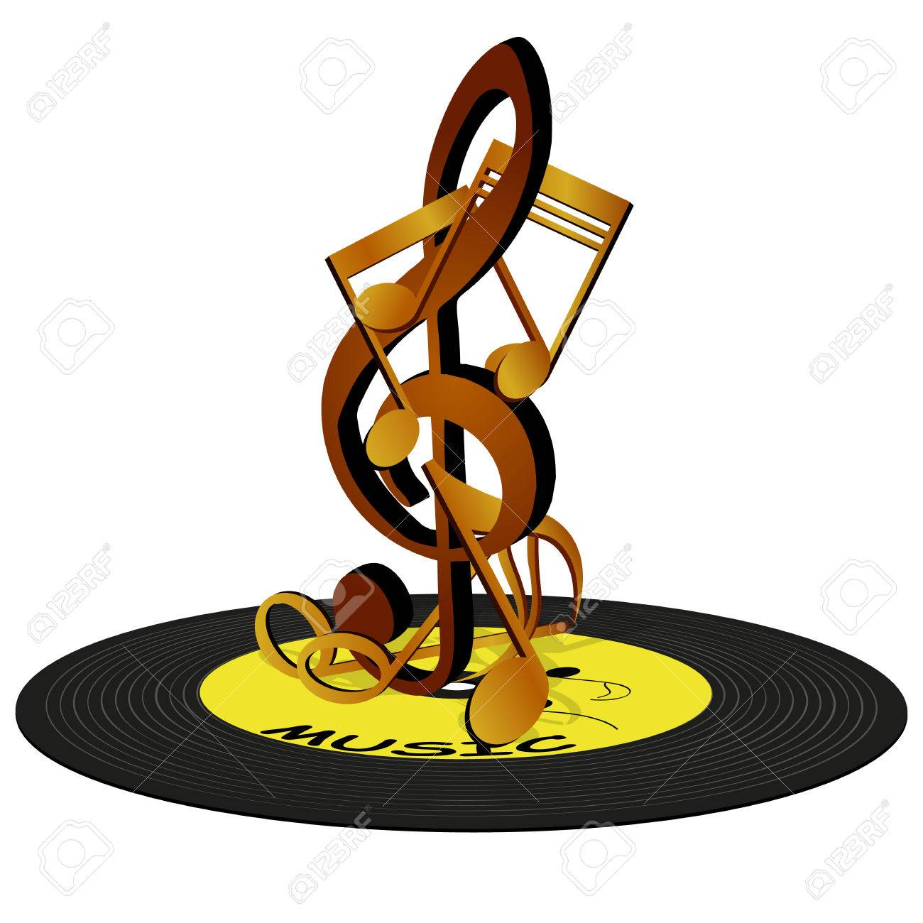 vector illustration of musical notes on the treble clef standing rh 123rf com Music Notes Graphics Music Notes Graphics