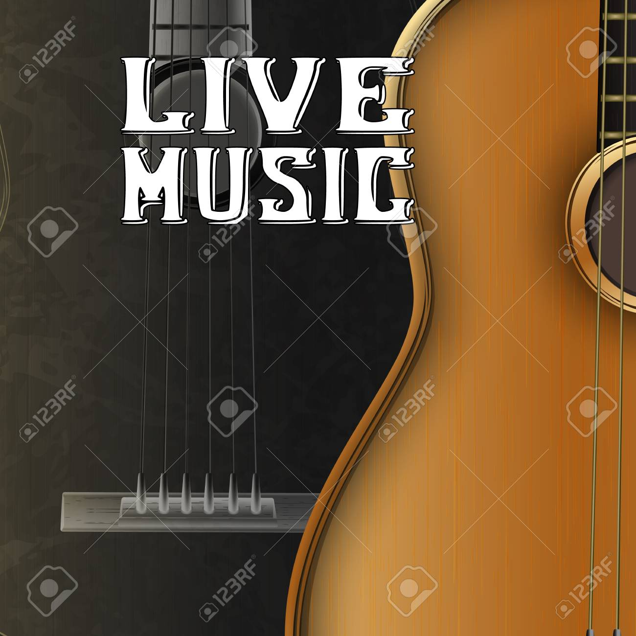 Live Guitar Music Banner Design Royalty Free Cliparts Vectors And Stock Illustration Image 92056851