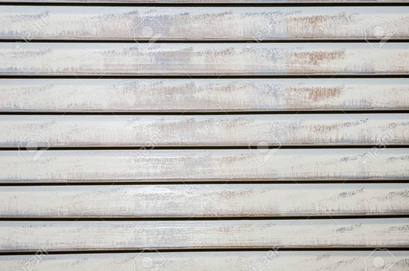 Old Closed Shabby Horizontal Long Painted Wooden Blinds Foto Royalty Free Gravuras Imagens E Banco De Fotografias Image 102624970