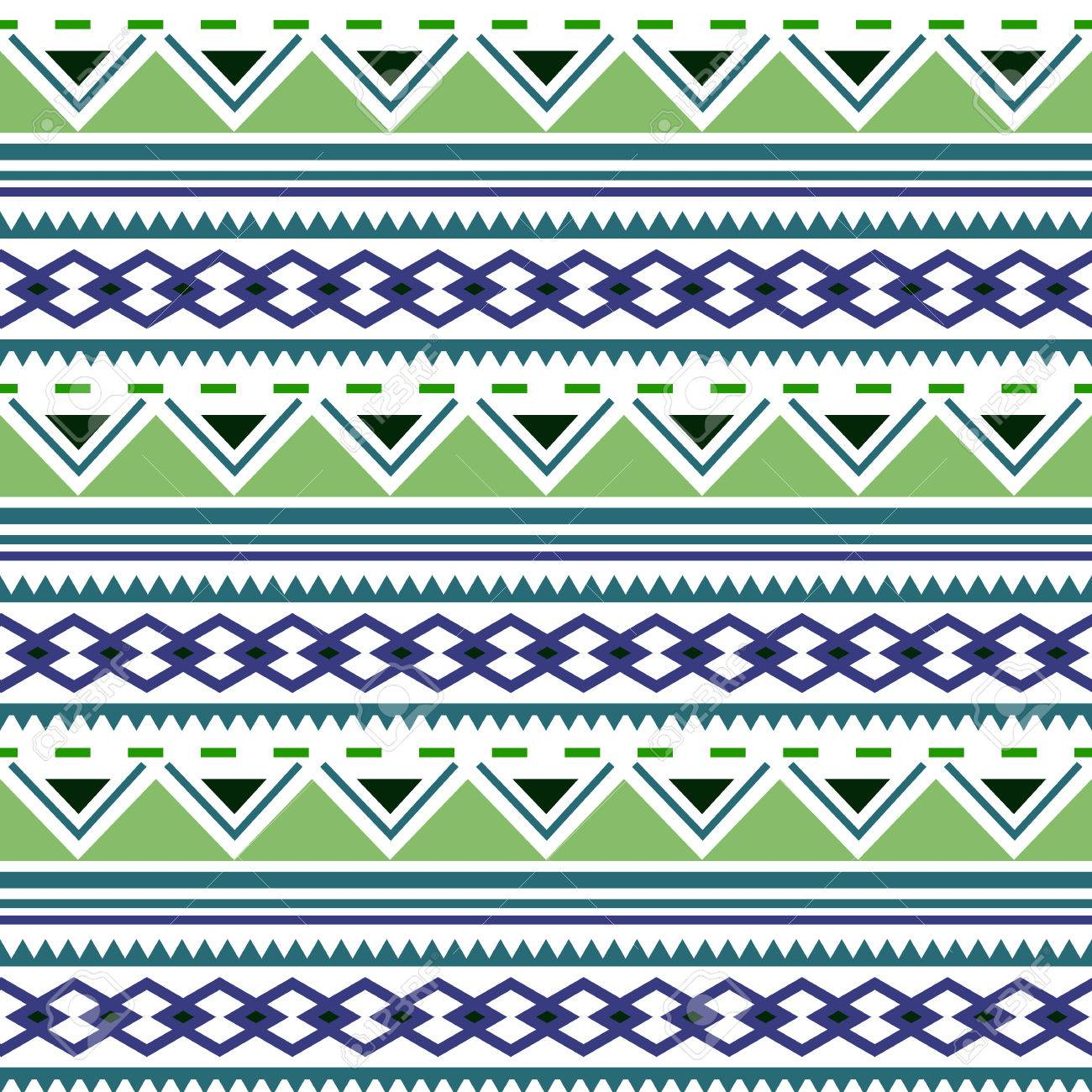 Native american ornaments - Seamless Geometric Pattern Aztec Boho Ornamental Style Ethnic Native American