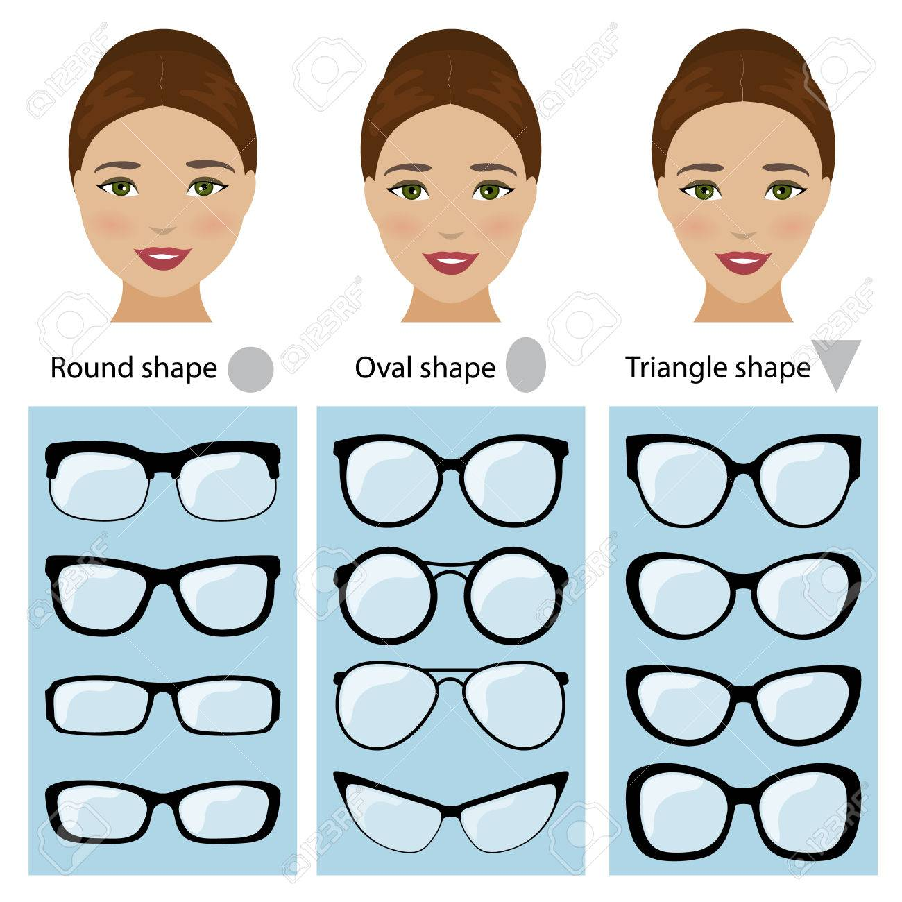 Spectacle Frames Shapes For Different Types Of Women Face Shapes ...