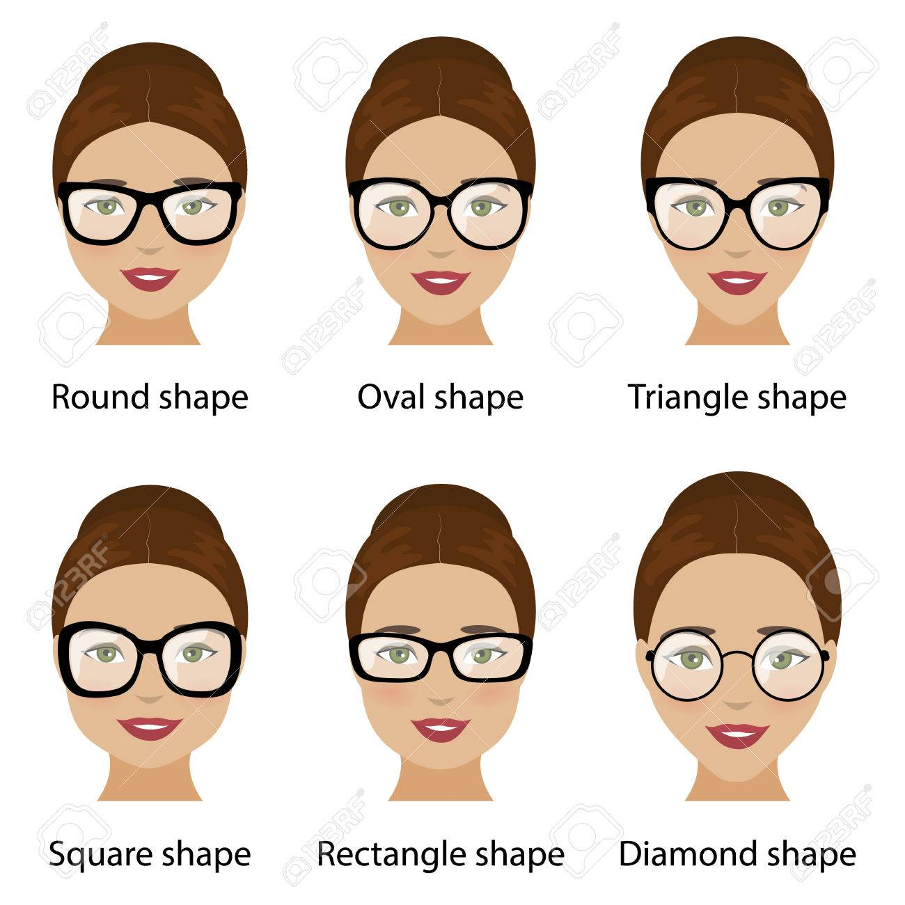 Spectacle Frames Shapes And Different Types Of Women Face Shapes ...