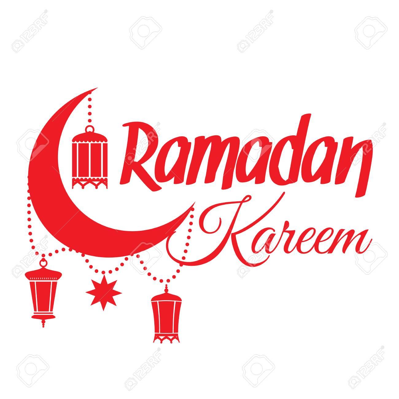 Ramadan kareem greeting card islamic crescent moon and lantern ramadan kareem greeting card islamic crescent moon and lantern lamps illustration for muslim holy m4hsunfo