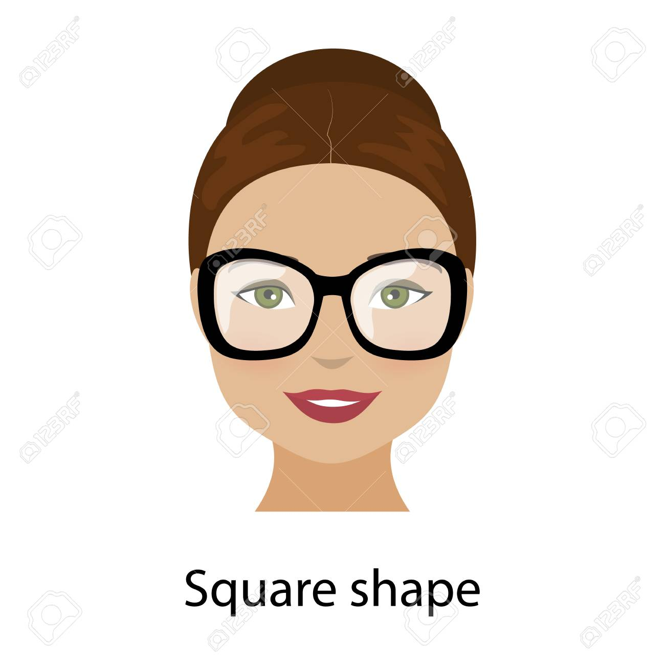 Fine Woman With Square Shape Face Type Of Face For Makeup Glasses Schematic Wiring Diagrams Amerangerunnerswayorg