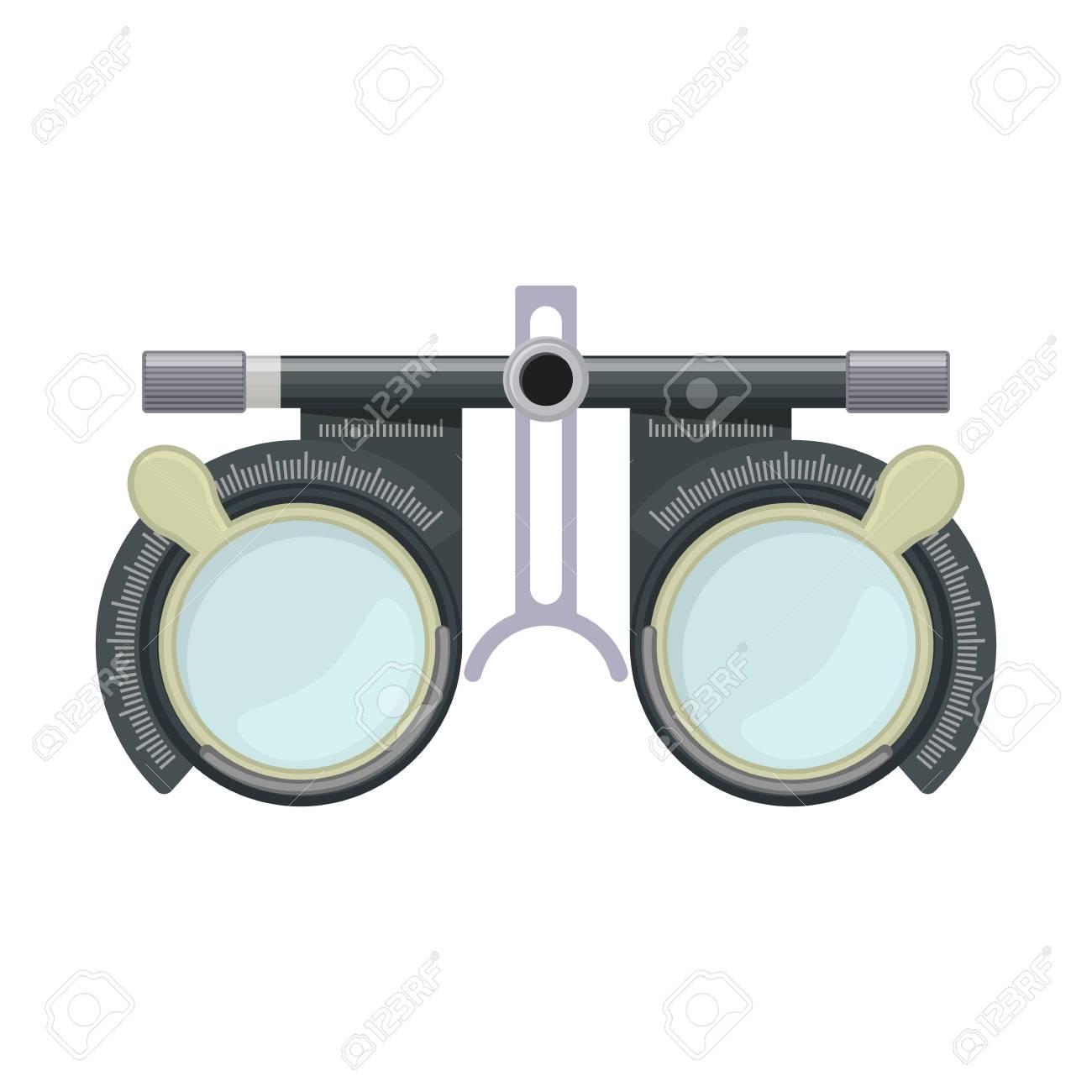 Marco De Lente De Prueba De Optometría De Ojo Para Prueba De Visión ...