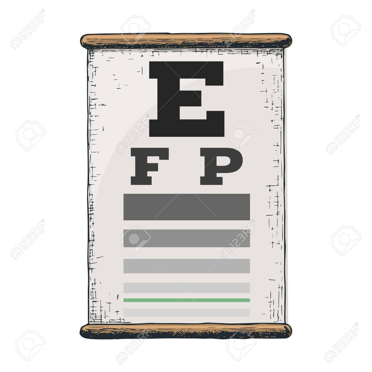 Eye Vision Test Poor Eyesight Myopia Diagnostic On Snellen Eye