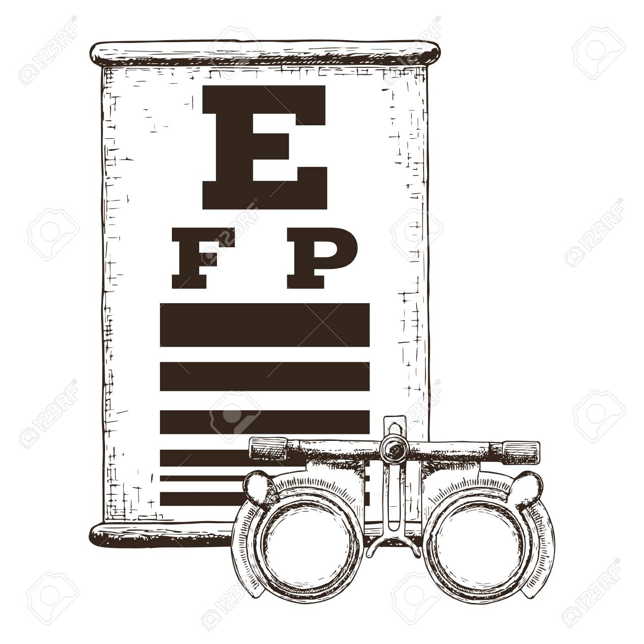 Eye vision test and trial lens frame poor eyesight myopia eye vision test and trial lens frame poor eyesight myopia diagnostic on snellen eye test geenschuldenfo Image collections