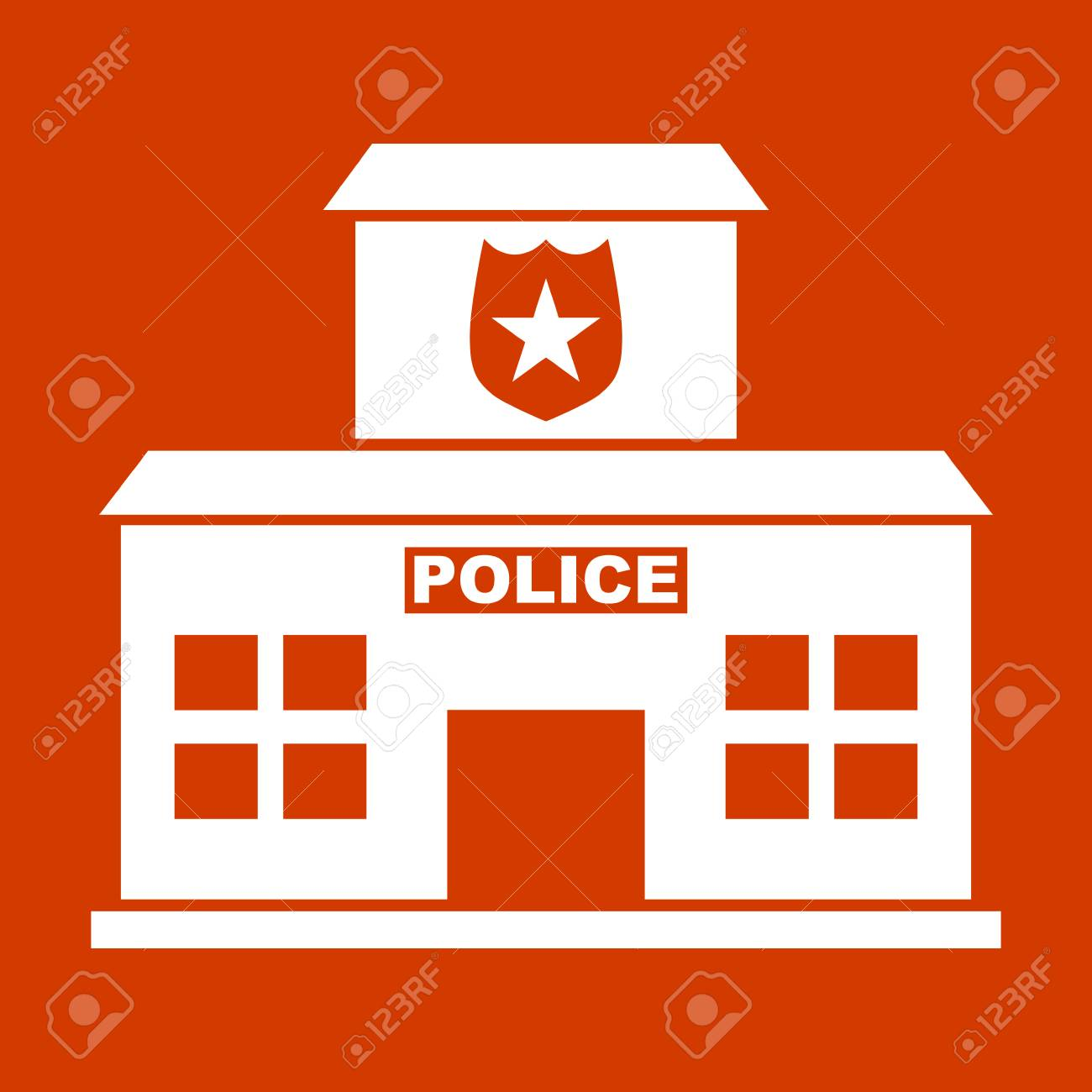 Police Station Icons Royalty Free Cliparts Vectors And Stock