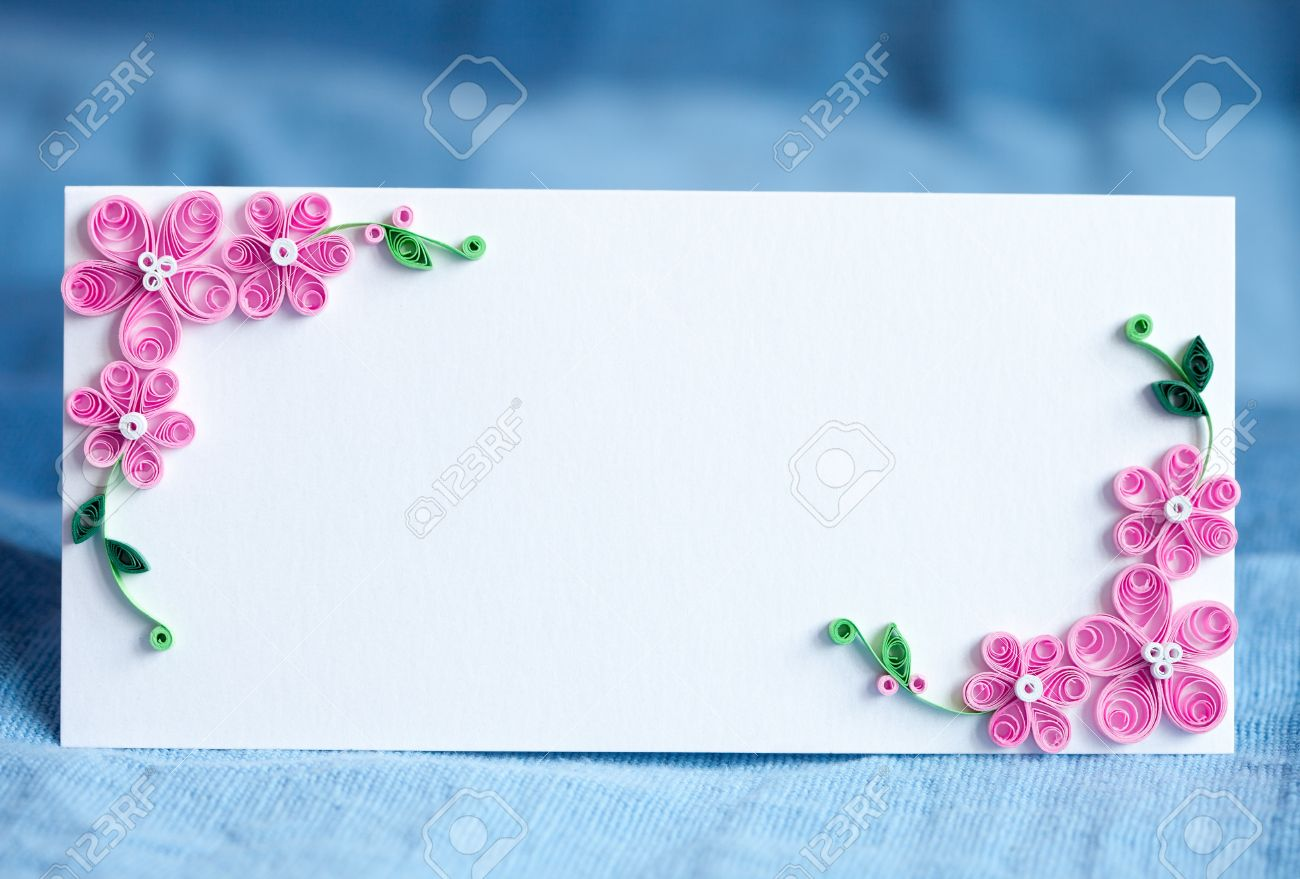 Blank Decorative Invitation Card For The Wedding Handmade Paper