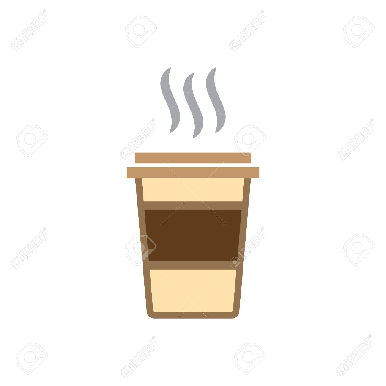 coffee cup coffee to go vector icon color - 104072567