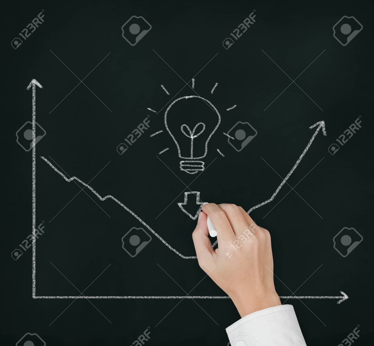 business hand writing picture of good idea can change regression to progression Stock Photo - 12207811