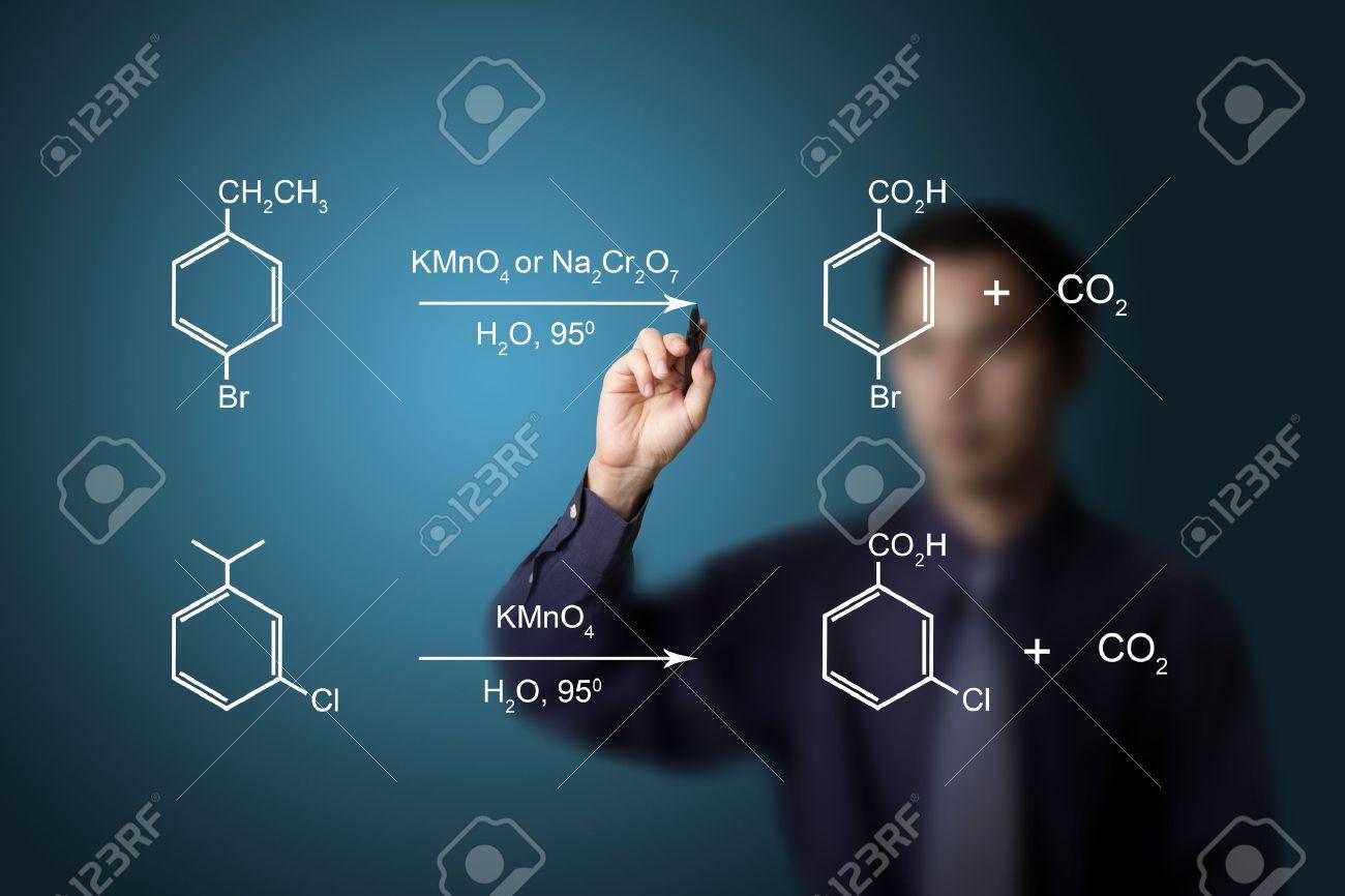 Chemistry Teacher Writing Scientific Formula Equation Stock Photo ...