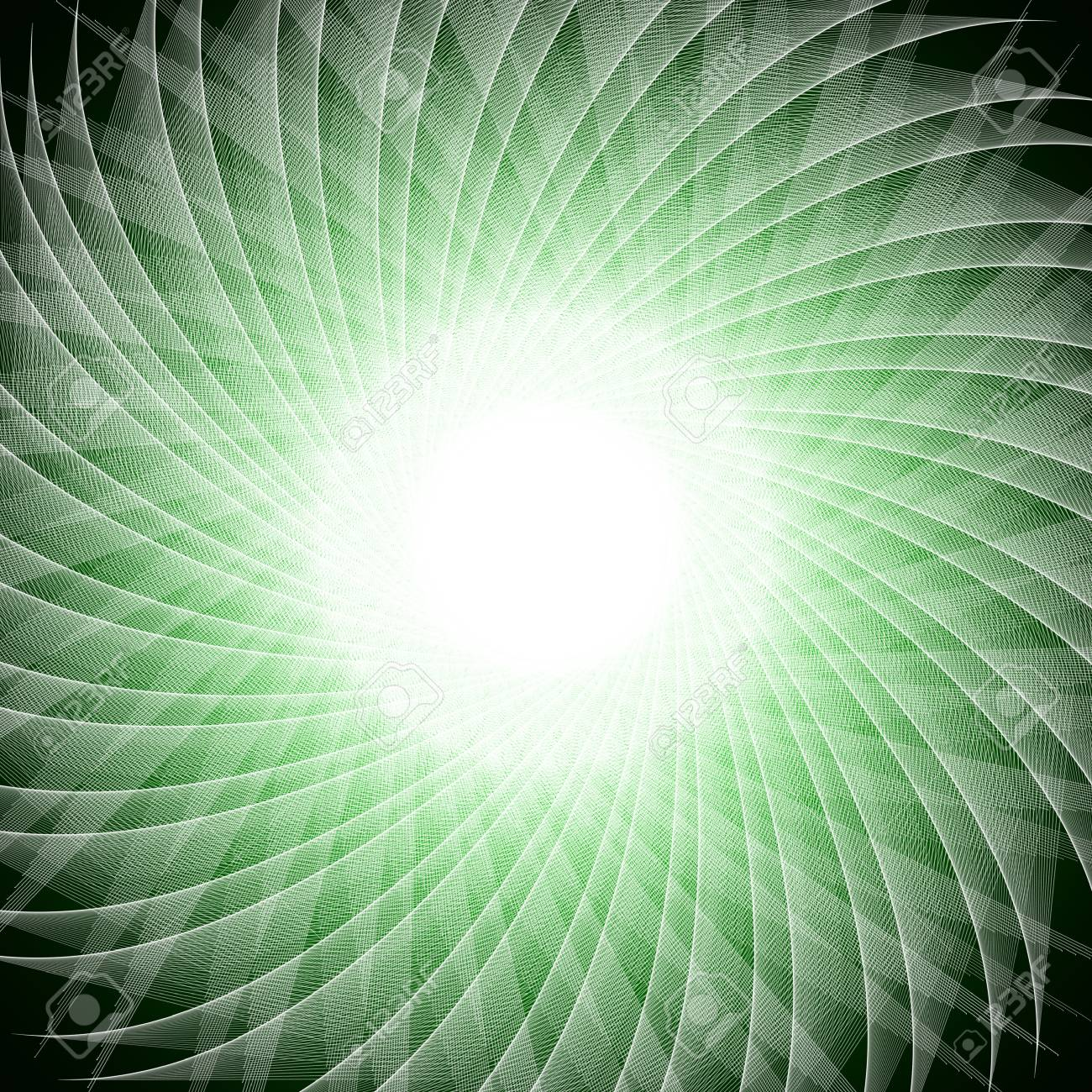 abstract green flower Stock Photo - 13225308