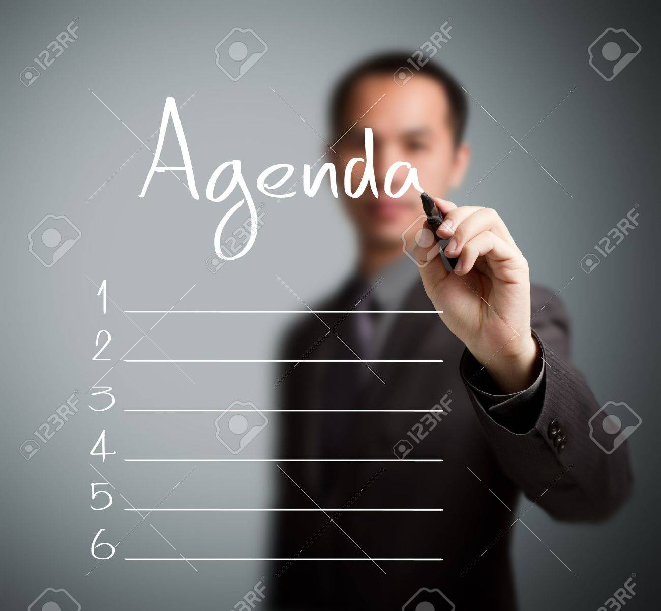 business man writing blank agenda list Stock Photo - 16011968