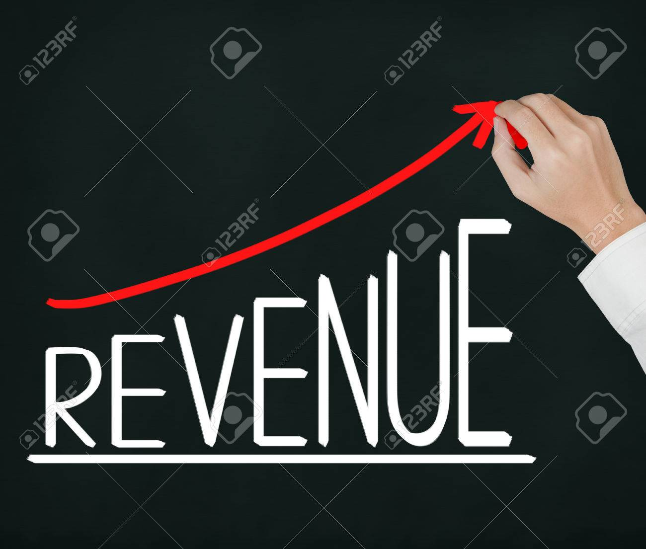 business hand writing revenue growth graph Stock Photo - 25168242