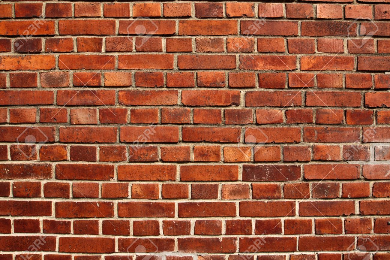 Old red brick wall texture filling frame Stock Photo - 14173357