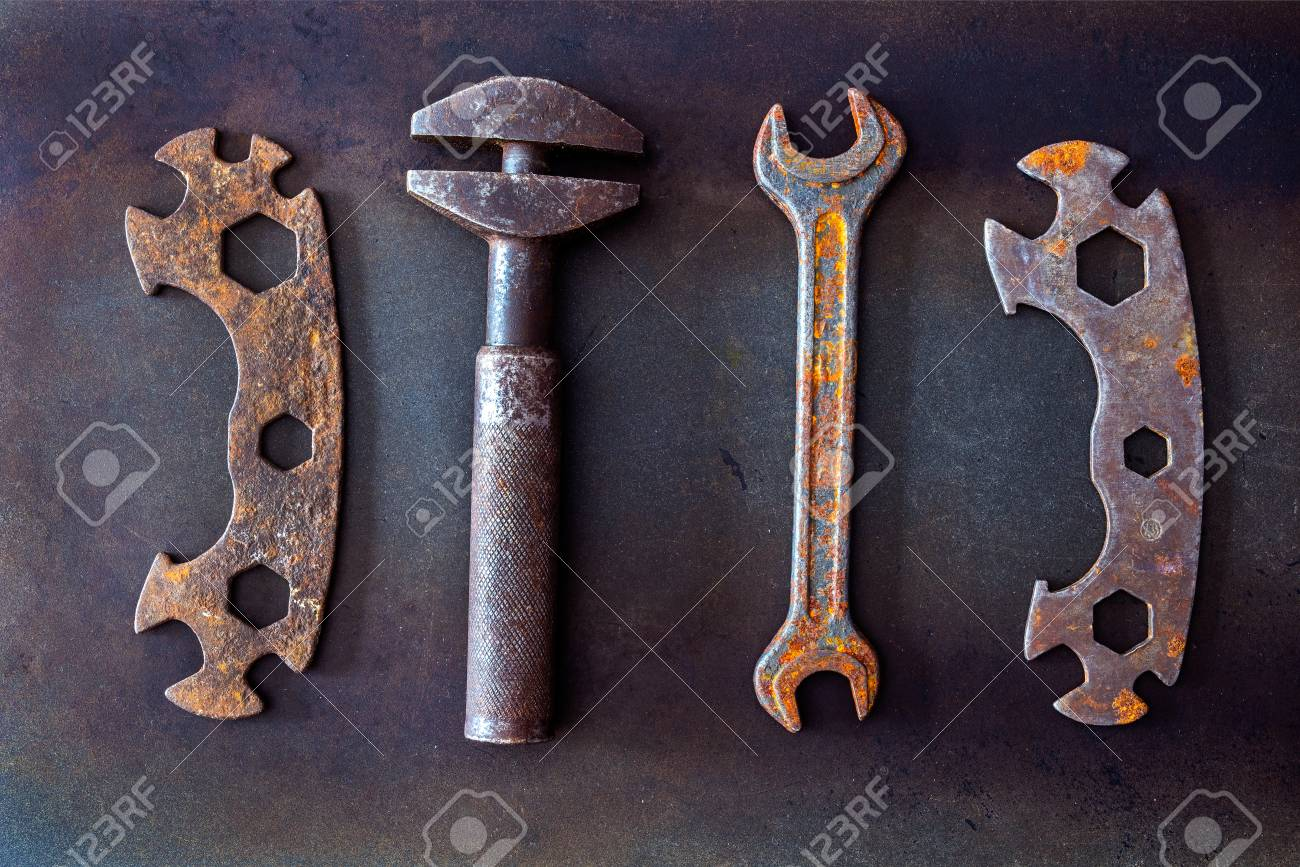 Old tools on background - 101517563