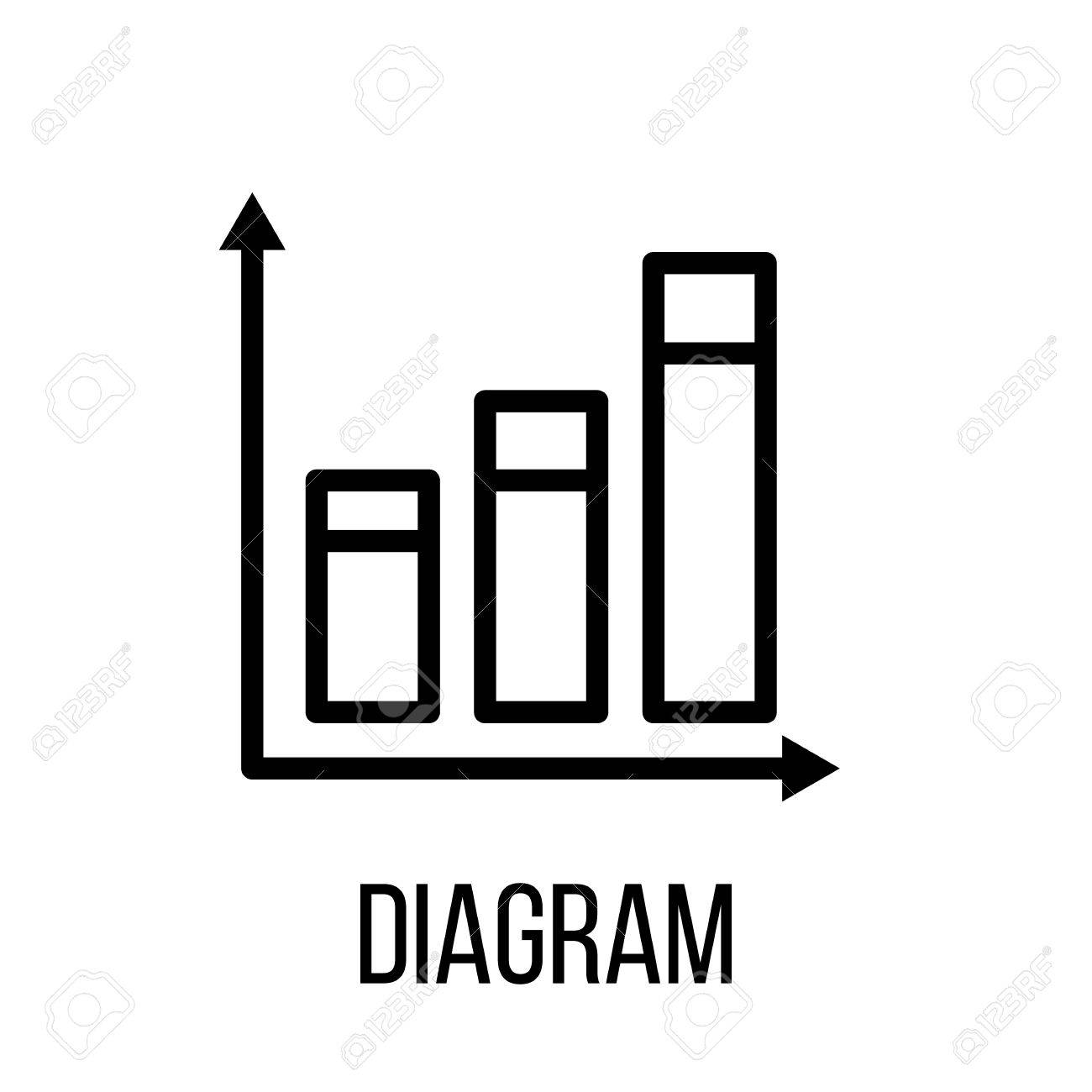 Diagram icon in modern line style high quality black outline diagram icon in modern line style high quality black outline pictogram for web site design ccuart Images