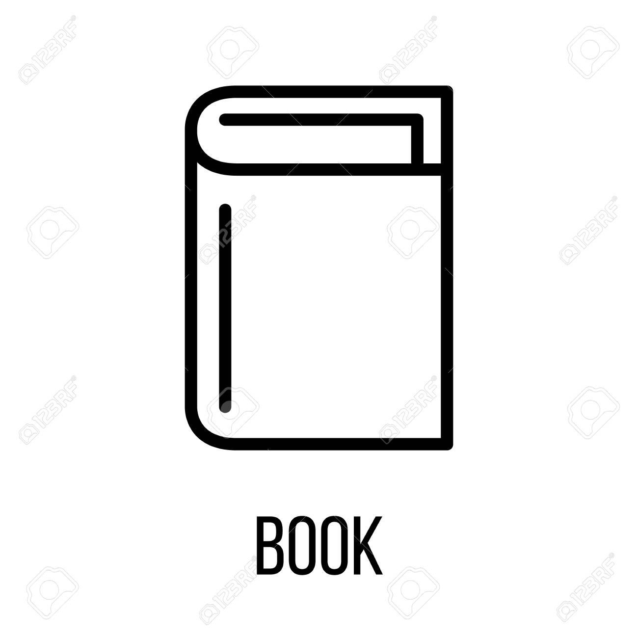 Icone De Livre Dans Le Style De Ligne Moderne Pictogramme De Contour Noir De Haute Qualite Pour La Conception De Sites Web Et Les Applications