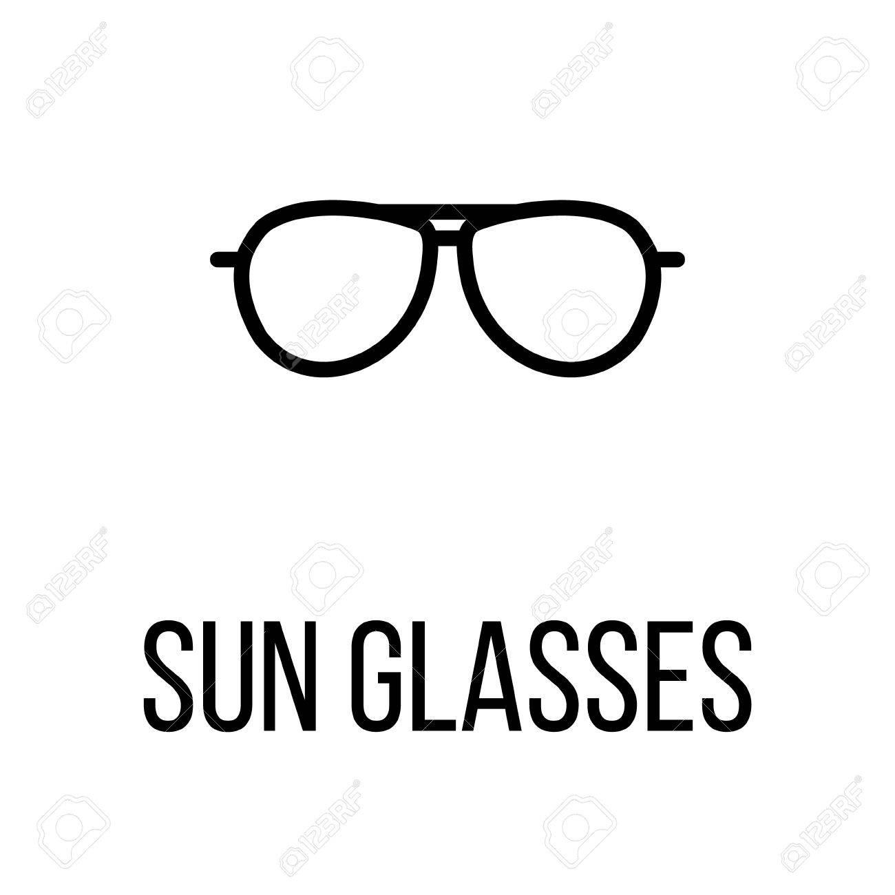meilleures offres sur super mignon prix limité L'icône des lunettes de soleil ou le logo dans un style de ligne moderne.  Pictogramme noir de haute qualité pour la conception de sites Web et les ...