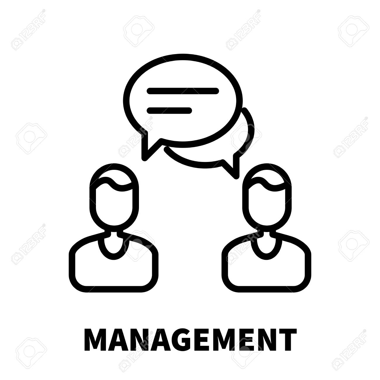 management icon or logo in modern line style high quality black Return to Workforce Resume Example management icon or logo in modern line style high quality black outline pictogram for web