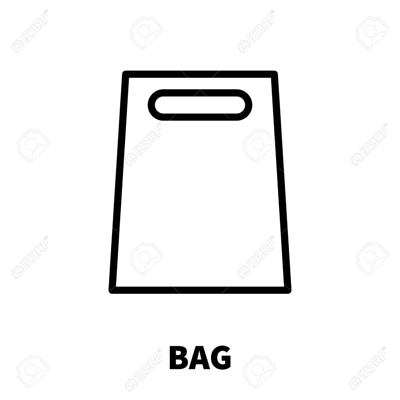 Icône de sac ou un logo dans le style de ligne moderne. Pictogramme de contour noir de haute qualité pour la conception de sites Web et les