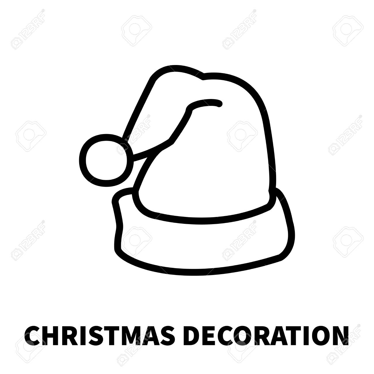 44a64878d2e9b Christmas decoration icon or logo in modern line style. High quality black  outline pictogram for