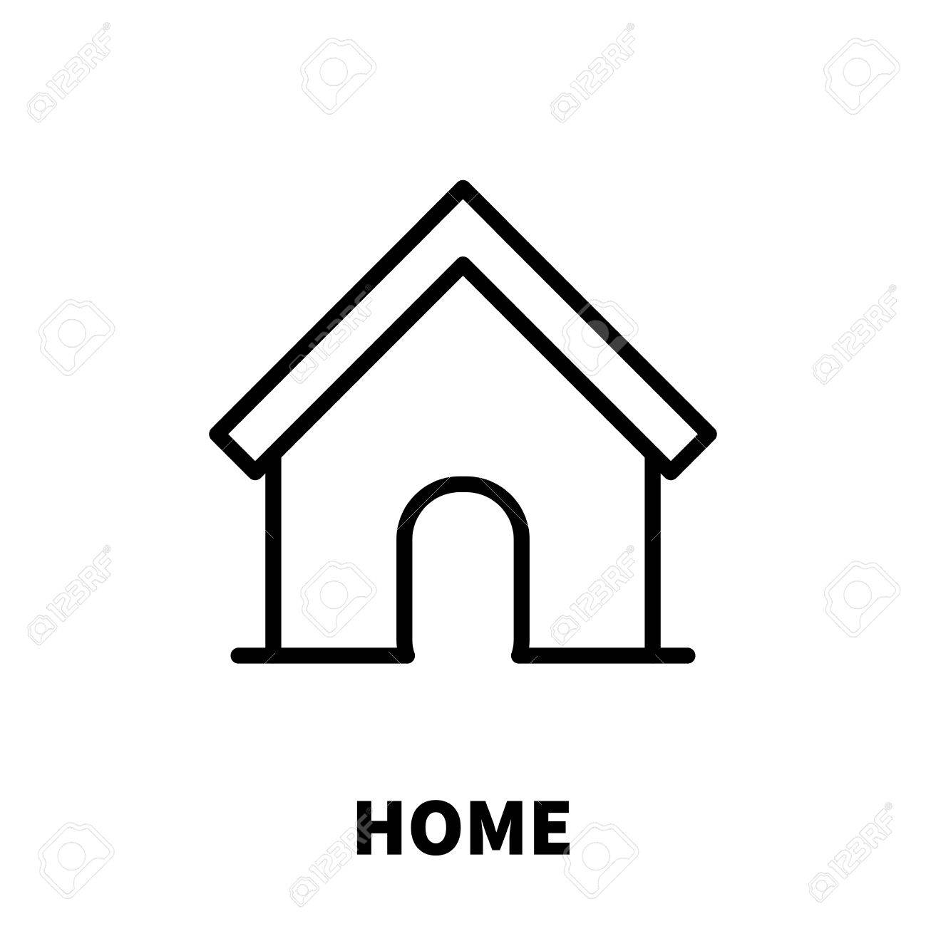 Home icon or logo in modern line style high quality black outline pictogram for web