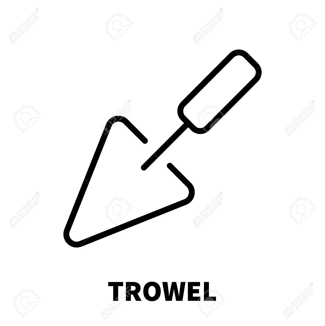 Trowel icon or logo in modern line style high quality black outline imagens trowel icon or logo in modern line style high quality black outline pictogram for web site design and mobile apps vector illustration on a white ccuart Images