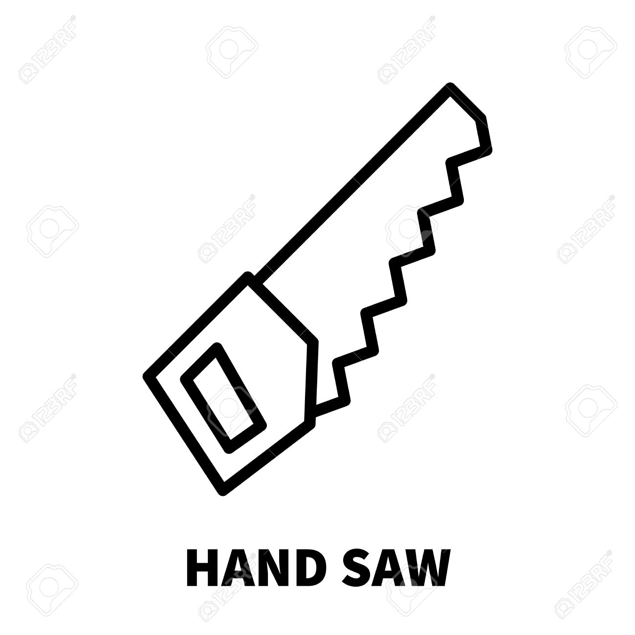 Hand saw icon or logo in modern line style high quality black hand saw icon or logo in modern line style high quality black outline pictogram for ccuart Image collections