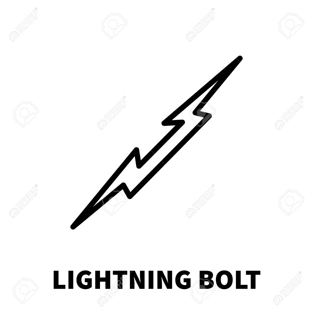 lightning bolt icon or logo in modern line style high quality black outline thunderbolt pictogram