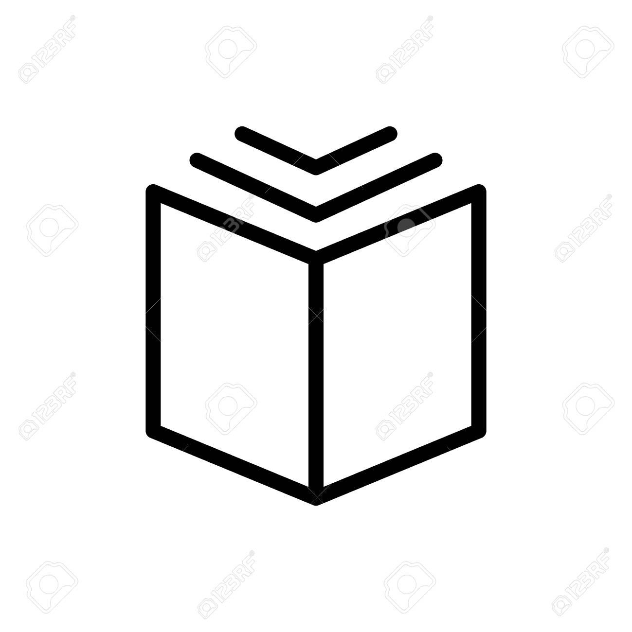 Icone De Livre De Ligne Mince Illustration Vectorielle Isolee Sur Fond Blanc Pictogramme De Contour Simple Du Livre